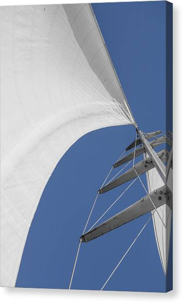 Jibbing Canvas Print - Obsession Sails 10 by Scott Campbell