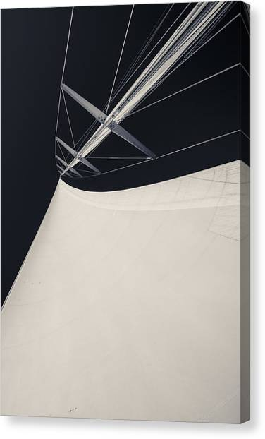 Jibbing Canvas Print - Obsession Sails 4 Black And White by Scott Campbell