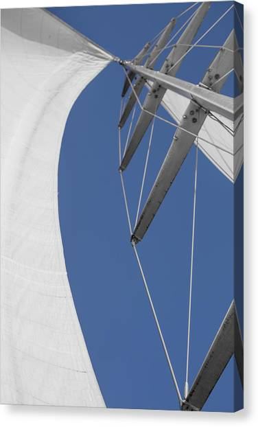 Jibbing Canvas Print - Obsession Sails 9 by Scott Campbell