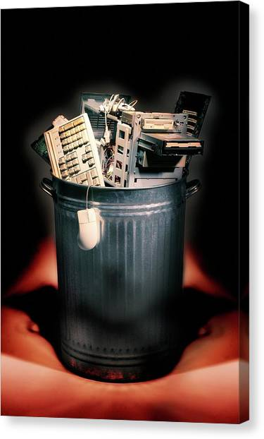 Rubbish Bin Canvas Print - Obsolete Hardware by Mark Sykes