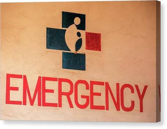 Obstetrics Emergency Sign Canvas Print by Mauro Fermariello/science Photo Library