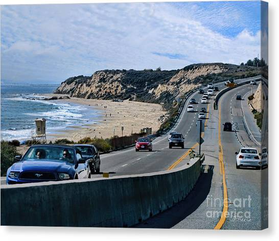 Oc On Pch In Ca Canvas Print