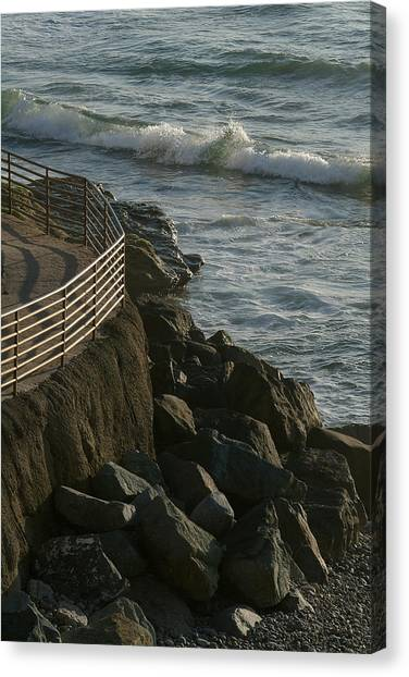 Ocean Beach Boat Ramp Canvas Print