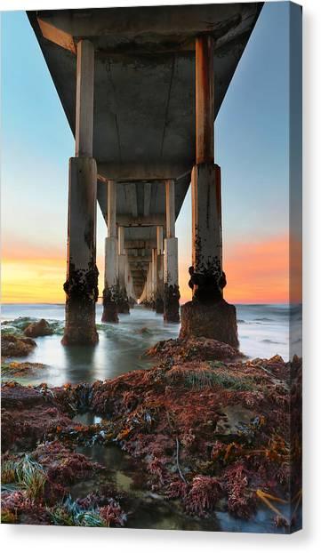 San Diego Canvas Print - Ocean Beach California Pier 2 by Larry Marshall