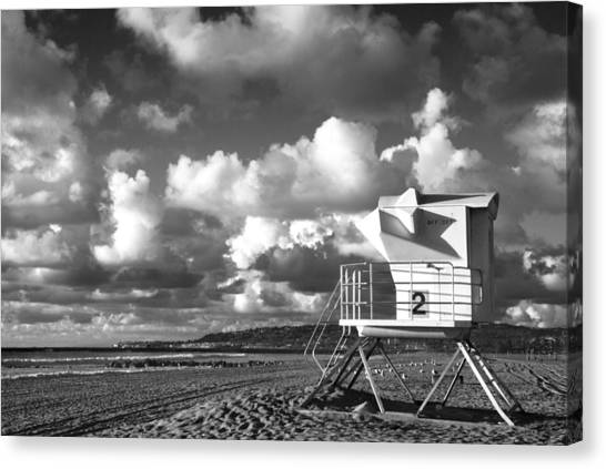 Ocean Beach Lifeguard Tower Canvas Print