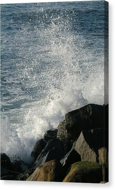 Ocean Beach Splash 1 Canvas Print