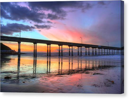 Ocean Beach Sunset Canvas Print