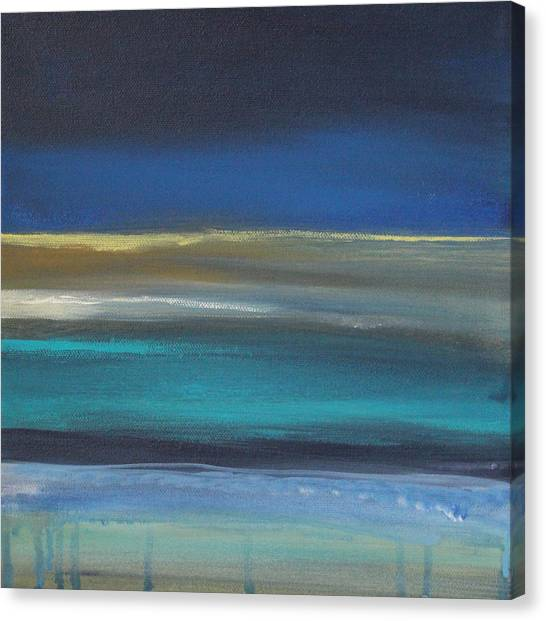Coastal Art Canvas Print - Ocean Blue 2 by Linda Woods