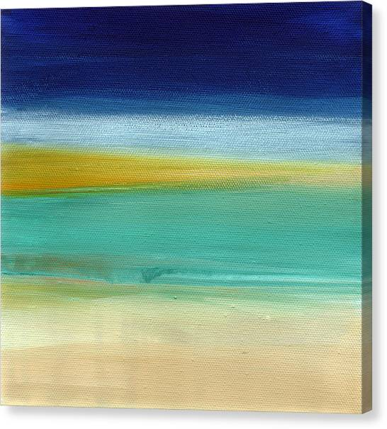 Abstract Designs Canvas Print - Ocean Blue 3- Art By Linda Woods by Linda Woods