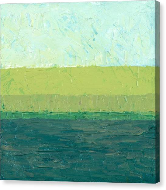 Ocean Blue And Green Canvas Print