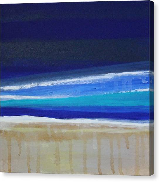 Coastal Art Canvas Print - Ocean Blue by Linda Woods