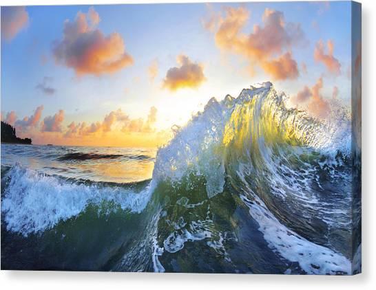 Waves Canvas Print - Ocean Bouquet by Sean Davey