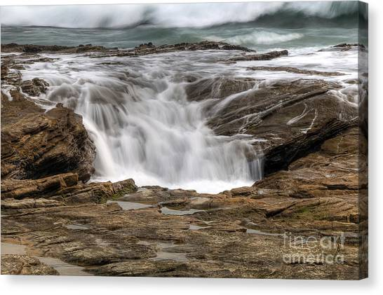 Ocean Cascade Canvas Print by Eddie Yerkish