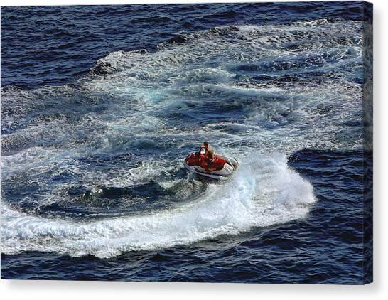 Jet Skis Canvas Print - Ocean Circles by Linda Phelps