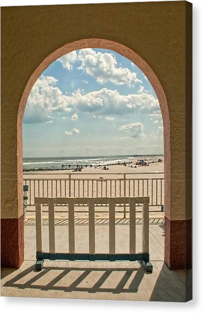 Ocean City Beach View Canvas Print