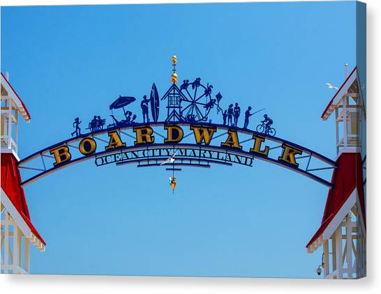 Ocean City Boardwalk Arch Canvas Print