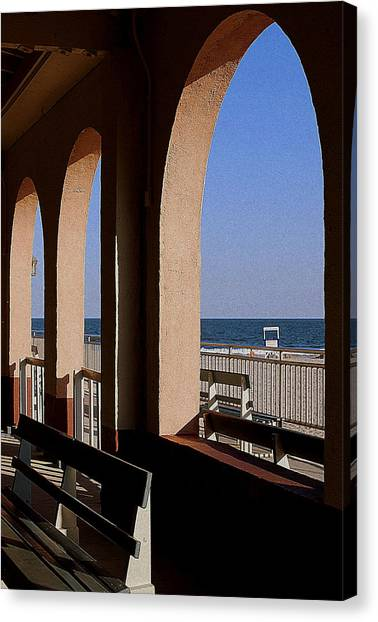Ocean City Music Pier View Canvas Print