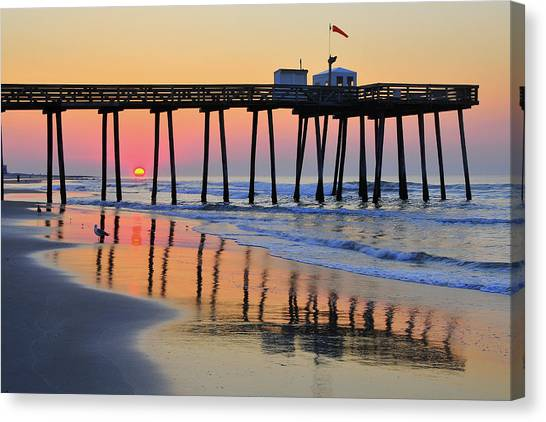 Ocean City Sunrise Canvas Print
