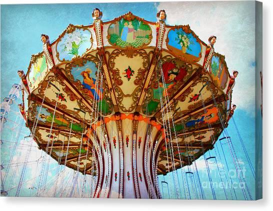 Ocean City Swing Carousel Canvas Print