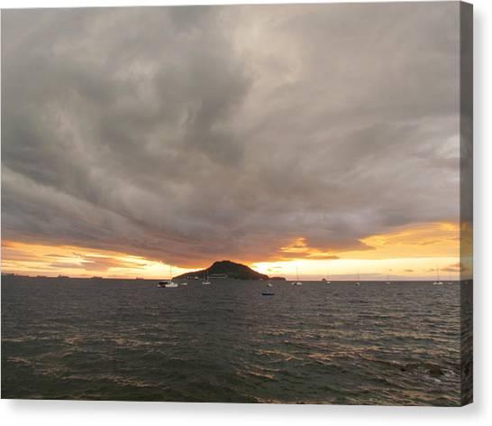 Ocean Cloud Sunrise Canvas Print