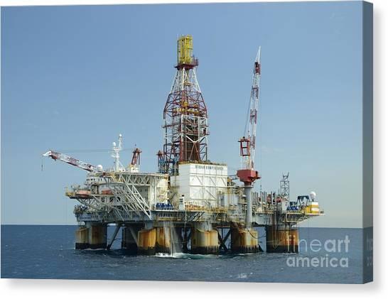 Ocean Confidence Drilling Platform Canvas Print