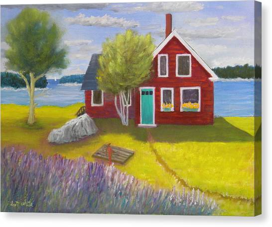 Ocean Cottage Canvas Print