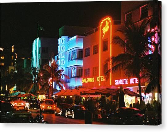 Ocean Drive Film Image Canvas Print