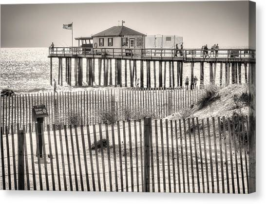 Canvas Print featuring the photograph Ocean Grove Fishing Club by Steve Stanger
