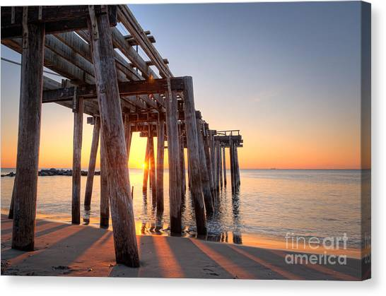 Ocean Grove Pier Sunrise Canvas Print