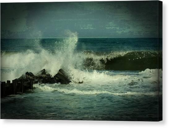 Ocean Impact - Jersey Shore Canvas Print