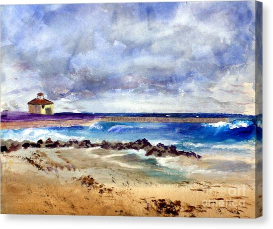 Ocean  Inlet Beach In Boynton Beach Canvas Print