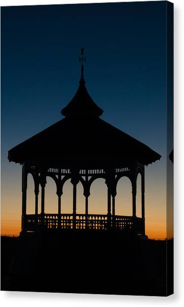 Ocean Park Gazebo Canvas Print