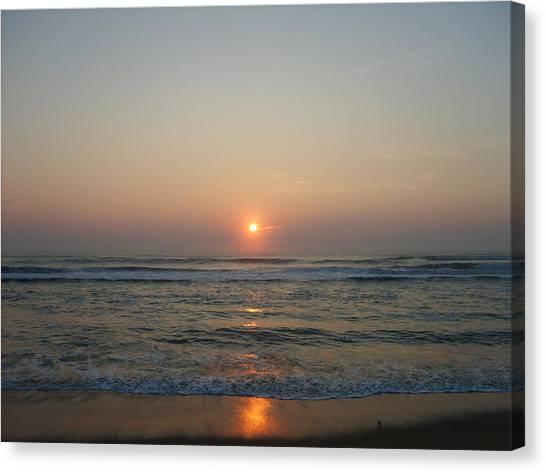 Ocean Sunrise Canvas Print by Deborah May