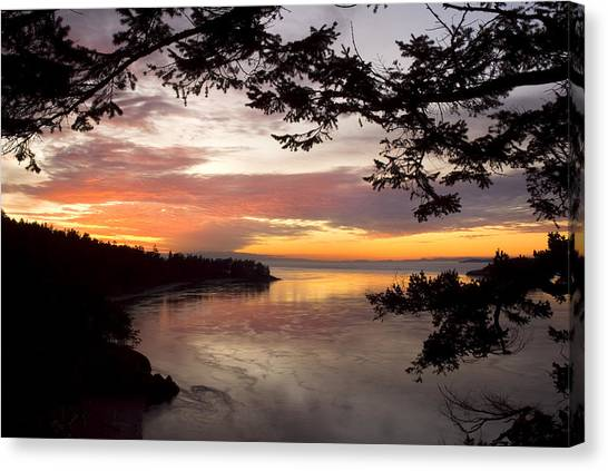 Ocean Sunset Deception Pass Canvas Print