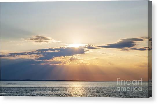 Sun Set Canvas Print - Ocean Sunset by Elena Elisseeva
