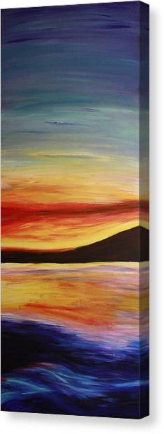 Ocean Sunset Canvas Print by Bex Schoof