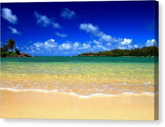Ocean Tranquil Canvas Print by Saya Studios