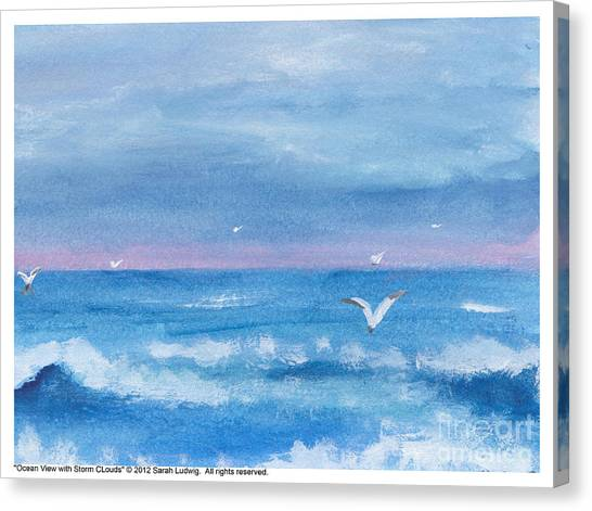 Ocean View #2 Canvas Print by Sarah Howland-Ludwig