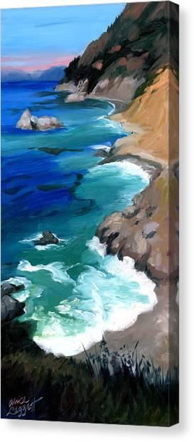 Ocean View At Big Sur Canvas Print