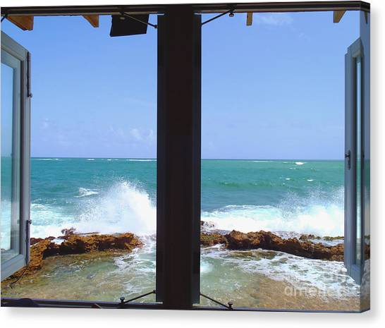 Fort Pierce Canvas Print - Ocean View by Carey Chen