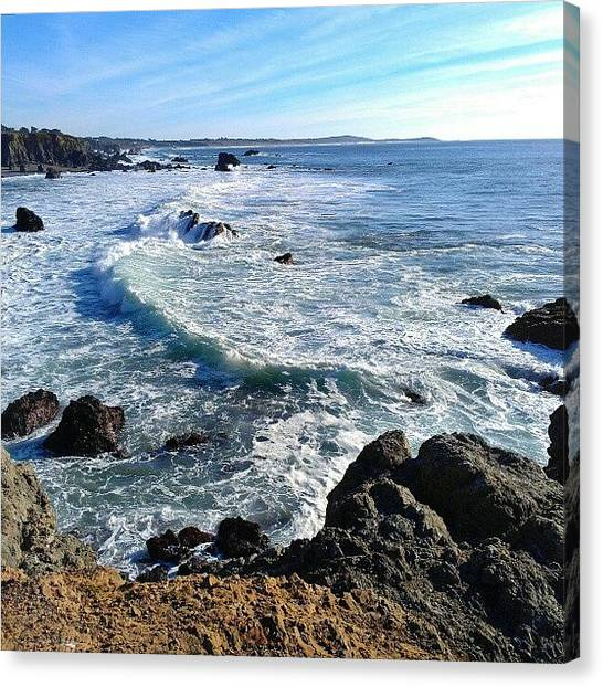 Beach Cliffs Canvas Print - Ocean Vista by CML Brown