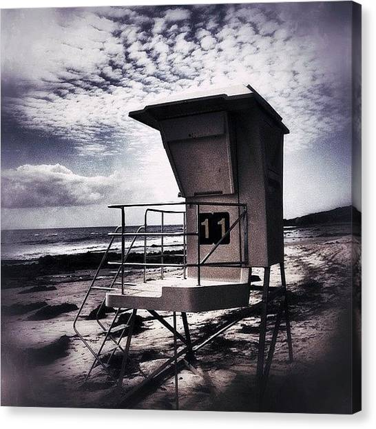 Lifeguard Canvas Print - Oceans 11 by Mark David Gerson