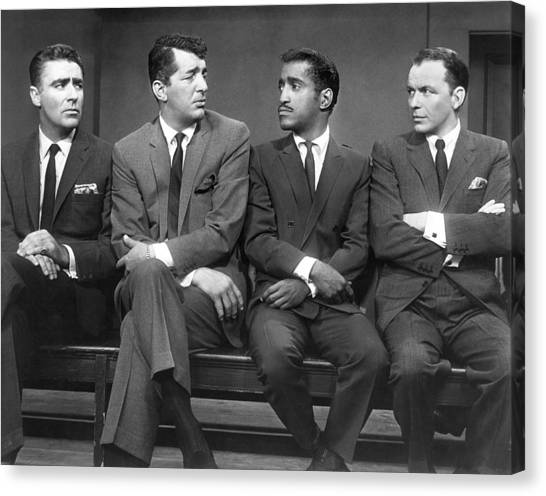 Humans Canvas Print - Ocean's Eleven Rat Pack by Underwood Archives