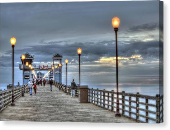 Canvas Print - Oceanside Pier At Sunset by Ann Patterson