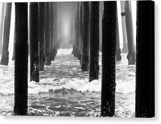 Oceanside Pier In Fog Canvas Print