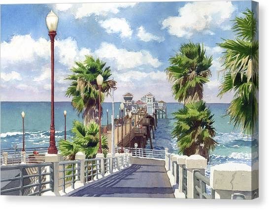 Pier Canvas Print - Oceanside Pier by Mary Helmreich