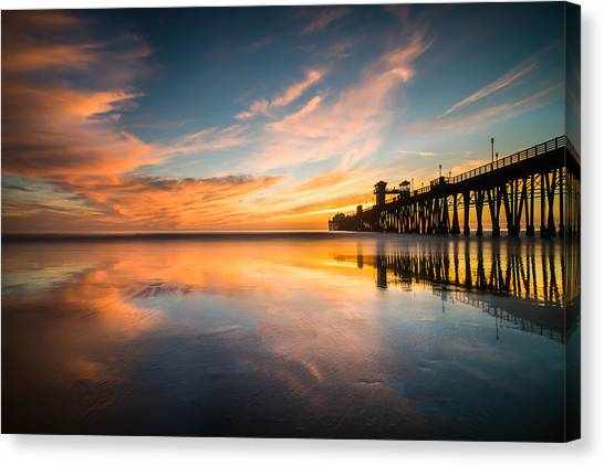 Coastal Landscape Canvas Print - Oceanside Reflections 3 by Larry Marshall
