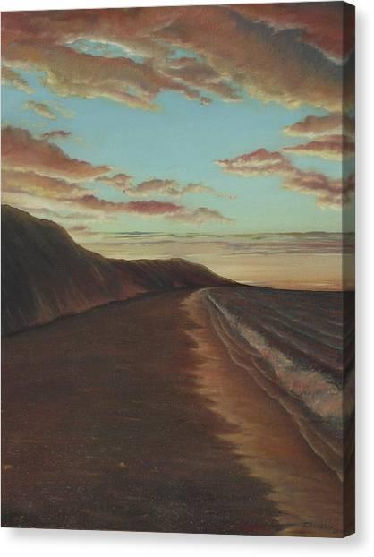 Oceanside Sunset Canvas Print