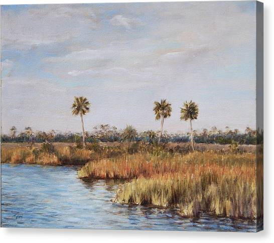 Ochlockonee River Palms Canvas Print