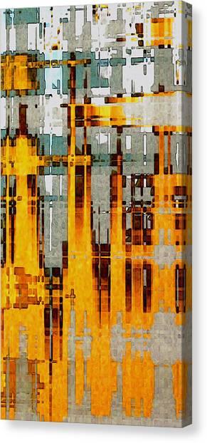 Ochre Urbanity Canvas Print